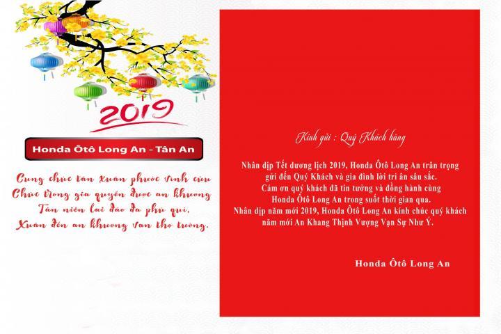 Honda Ôtô Long An chúc mừng năm mới 2019