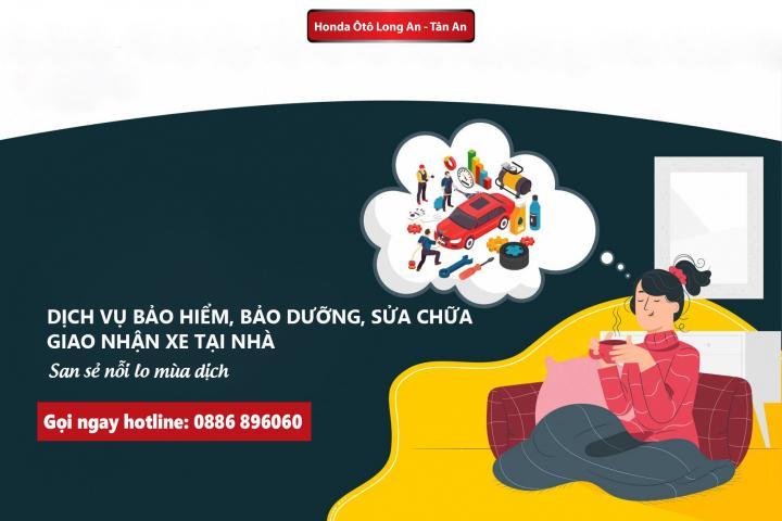 Honda Ôtô Long An cung cấp dịch vụ sửa chữa, bảo dưỡng tại nhà