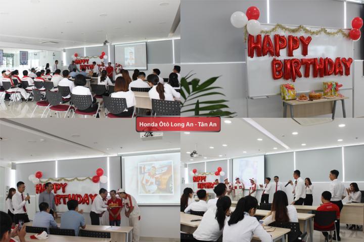 Honda Ôtô Long An mừng sinh nhật nhân viên tháng 8