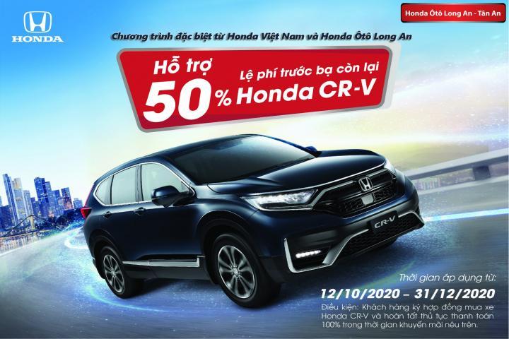 Ưu đãi cực hấp dẫn - Miễn phí trước bạ dành cho Honda CR-V
