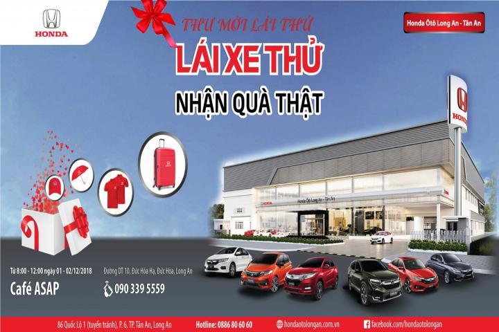 """Thư mời sự kiện đặc biệt """"Lái xe thử nhận quà thật"""" tại huyện Đức Hòa"""