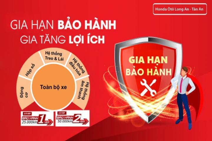 Honda Việt Nam cung cấp chương trình mở rộng Gói gia hạn bảo hành